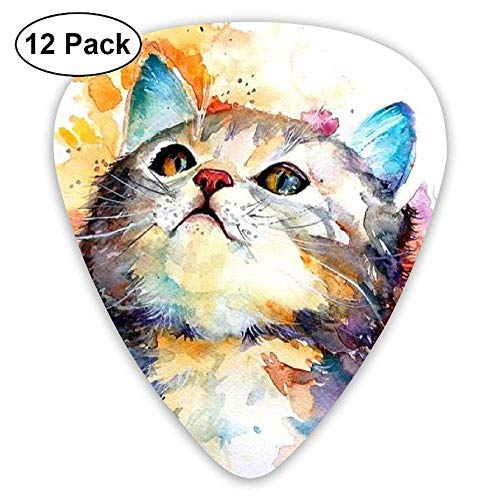 HOOAL Custom Guitar Picks, Unique Bright Color Arro Cat Guitar Pick,Jewelry Gift For Guitar Lover,12 -