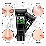 Vassoul Blackhead Remover Mask, Black Peel-off Mask for Face Nose, Acne Treatment Oil Control