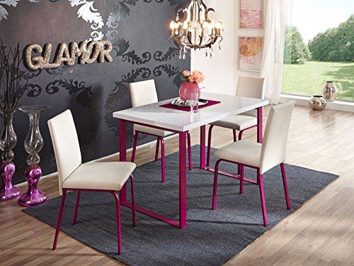 Tischgruppe Nevada Kunstleder weiß