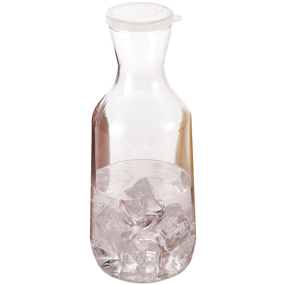 Cambro 1.5L Beverage Decanters with Lids, 12PK Clear WW1500-135