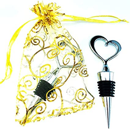 Vineyard Ceremony Gift Destination Wedding Favor- Wine Stopper with Names W0301STWD Location and Date