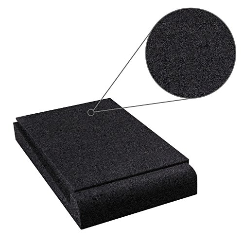 Studio Monitor Isolation Pads, Suitable for 5'' - 8'' inch for Speakers, High-Density Acoustic Foam for Significant Sound Improvement, Prevent Vibrations and Fits most Stands - 2 Pads by Shayson (Image #2)