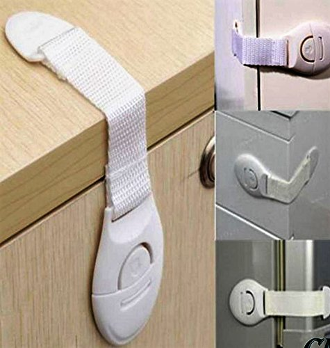 BabySafe Adhesive Strips Child Safety Locks for Baby Proofing Cabinets