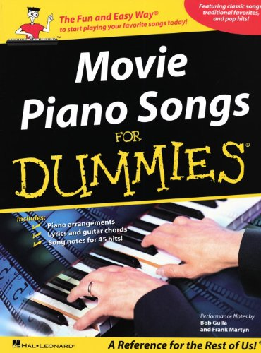 Hal Leonard Movie Piano Songs for Dummies arranged for piano, vocal, and guitar (P/V/G) ()