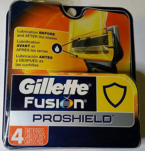 Gillette Fusion Proshield Refill Cartridges 4 Count -Made in USA