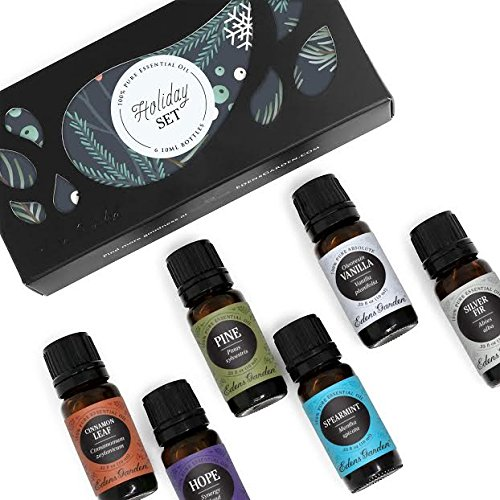 Dropper Silver Top (Edens Garden HOLIDAY Essential Oil 100% Pure Therapeutic Grade Aromatherapy Sampler Set- 6/10 ml of Cinnamon Leaf, Hope, Pine, Silver Fir, Spearmint and Vanilla by)