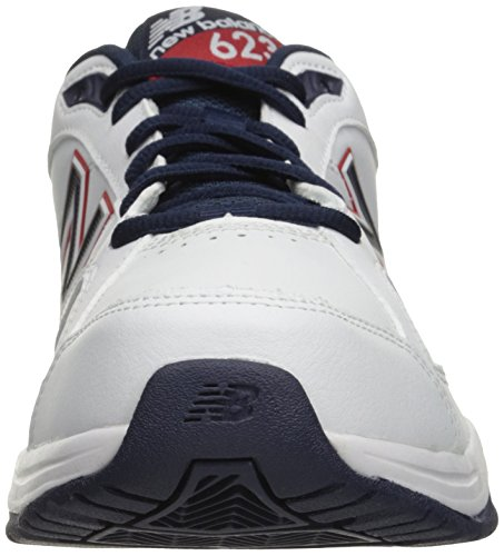 New Balance Men's 623v3 Training Shoe, White/Blue/Red, 9 4E UK
