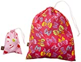 "Kushies""On The Go"" Wet Bag with Pacifier Pouch, Girl/Print May Vary"