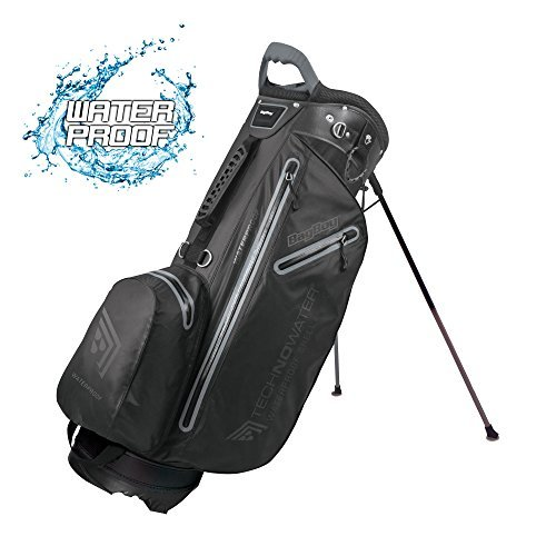 Bagboy Techno Water Stand Bag - Black/Charcoal, One Size by Bag Boy