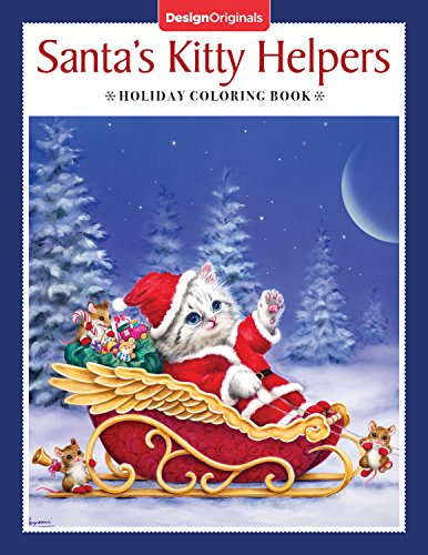 Santa's Kitty Helpers Holiday Coloring Book