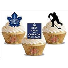 Ice Hockey Toronto Maple Leafs Trio Mix- Fun Novelty Birthday PREMIUM STAND UP Edible Wafer Card Cake Toppers Decoration