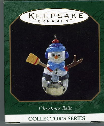 Christmas Bells 3rd in Series 1997 Miniature Hallmark Ornament QXM4162