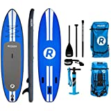 "iRocker Inflatable ALL-AROUND Stand Up Paddle Board 11' Long 32"" Wide 6"" Thick SUP Package"