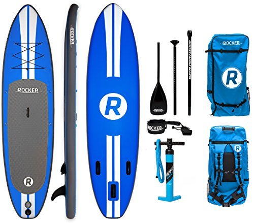iRocker Inflatable ALL-AROUND Stand Up Paddle Board 11' Long 32' Wide 6' Thick SUP Package
