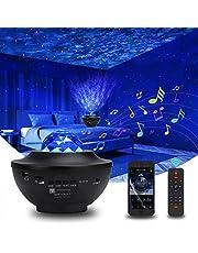LED Star Light Plafondprojector, Ocean Wave Nachtlampje met Bluetooth & Timer & Afstandsbediening, Galaxy Projector Light Muziek Speaker, Roterende Nebula Projector Lamp voor Slaapkamer Bruiloft Kerstmis..