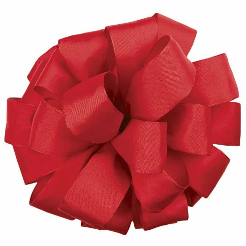 Offray Revogue Wired Edge Ribbon, 2-1/2-Inch by 50-Yard, Scarlet