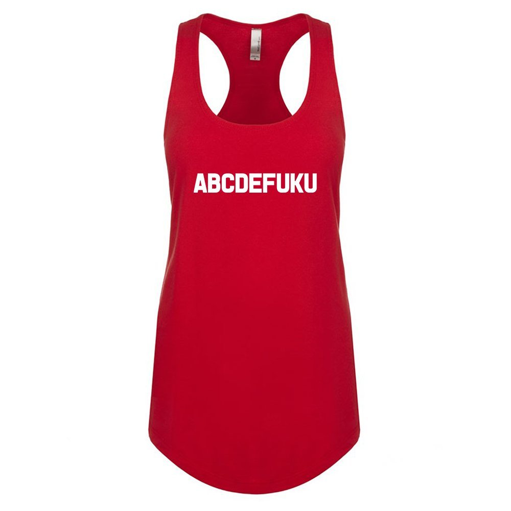 Mad Over Shirts ABCDEFUKU Unisex Premium Racerback Tank top