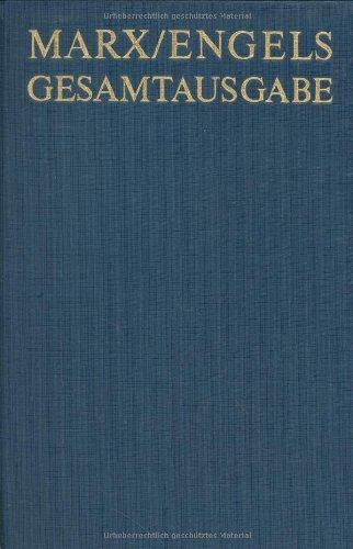Karl Marx / Friedrich Engels: Werke, Artikel, Entwurfe, Dezember 1872 Bis Mai 1875