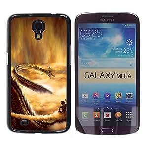 EJOY---Cubierta de la caja de protección la piel dura para el / Samsung Galaxy Mega 6.3 / --Dragon del cielo