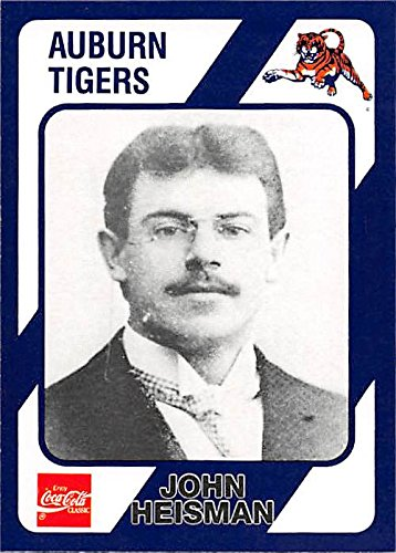 John Heisman football card (Auburn Tigers) 1989 Collegiate Collection Coca Cola #205