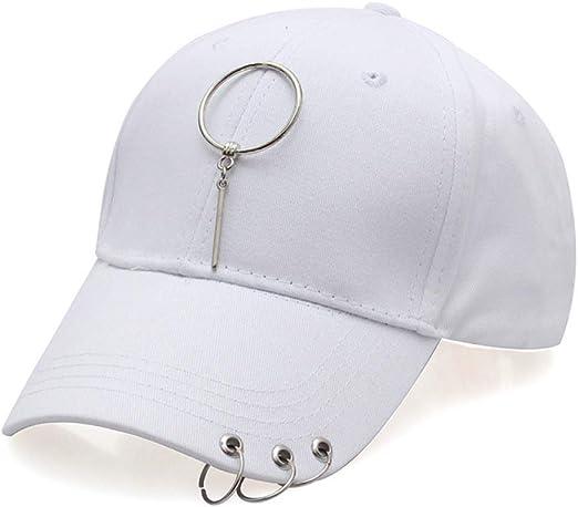 zlhcich Anillo de Acero Streamer Hat Pareja Gorra aro de Moda ...