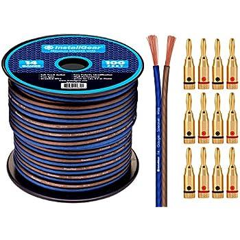 Installgear Speaker Wire : installgear 14 gauge awg 100ft speaker wire cable with 12 banana plugs cell phones ~ Russianpoet.info Haus und Dekorationen