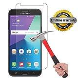 Samsung Galaxy J7 V / J7V (Verizon) / J7 2017 / Galaxy J7 Perx / Galaxy J7 Sky Pro / Galaxy J7 Prime / Galaxy Halo Screen Protector, KMISS [Tempered Glass] with Lifetime Replacement Warranty (1 Pack)