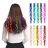 colored 10pcs Colored Clip in Hair Extensions 22