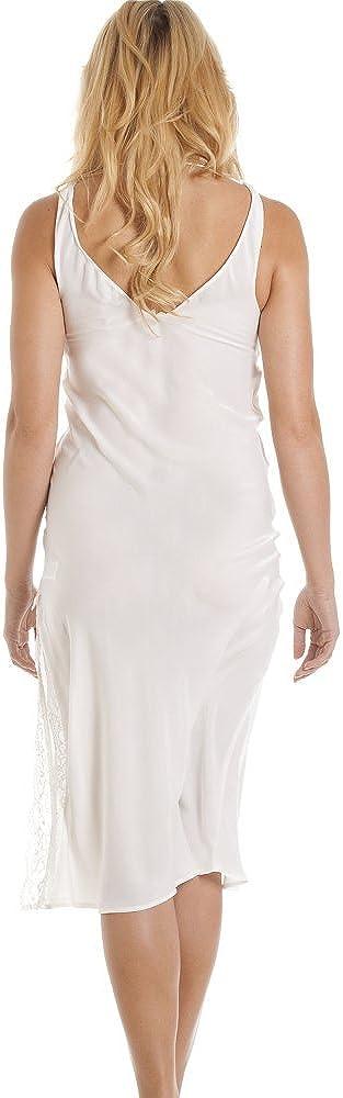Avorio Camicia da Notte da Sposa Lunga Elegante