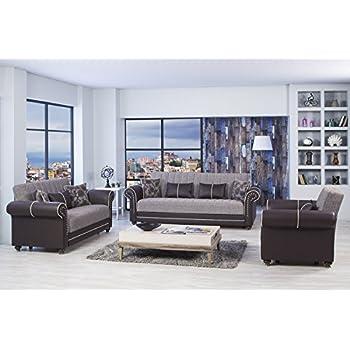 Amazon Royal Home Functional Futon Living Room Set Brown
