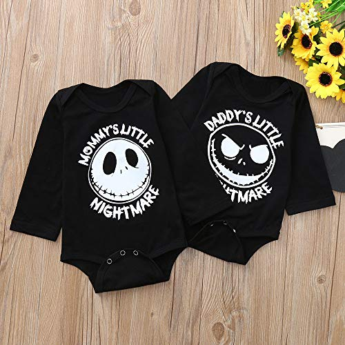 SMALLE◕‿◕ Newborn Toddler Infant Baby Boys Girls Letter Print Romper Jumpsuit Outfits by SMALLE◕‿◕ (Image #2)