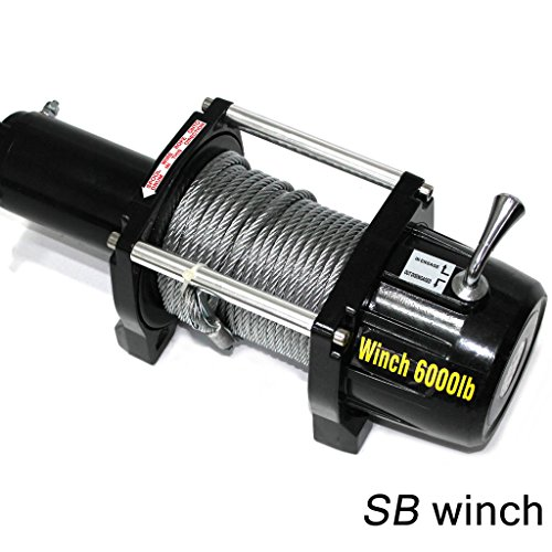 VioletLisa 6000lb / 2722kg Capacity 12V Electric Recovery Waterproof Winch With Wired Switch & Wireless Remote for Pickup Truck Car SUV Jeep Trailer Boat by VioletLisa (Image #2)