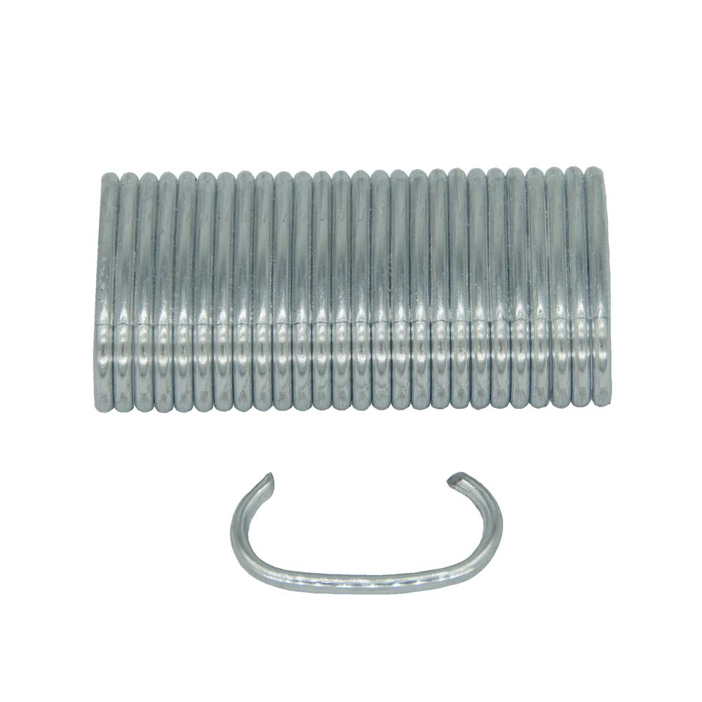 China-top Silver SC7 15 Gauge 3//4 Crown C Ring Staples C-Rings Hog Rings