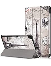 A-BEAUTY Case for Samsung Galaxy Tab S6 Lite 10.4 Inch 2020 (Model: SM-P610/P615) with Screen Protector, Tri-fold Stand Cover Ultra Slim Shell Shockproof with Auto Sleep/Wake, Eiffel Tower