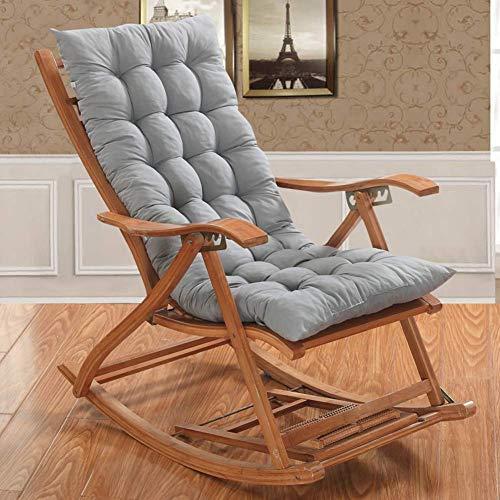 Picralt Rocking Chair Cushions, Chair Pads & Back Cushion, Tufted Patio Bench Cushion/Lounge Chair Cover/Rocking Chair Cushion Pads Sofa Cushions Seat Cushion Outdoor (Gray)