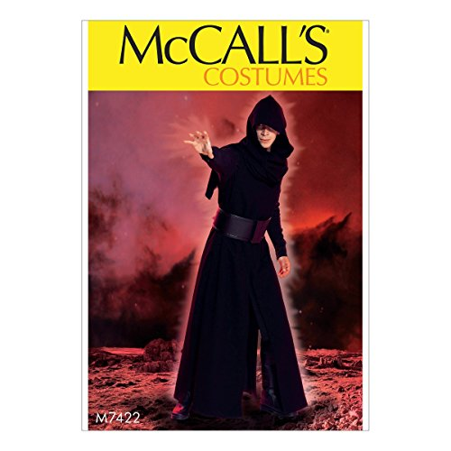 McCall's Costumes M7422 Men's Coat, Surcoat, Hood and Belt Sewing Pattern, Size SMALL-XXL ()