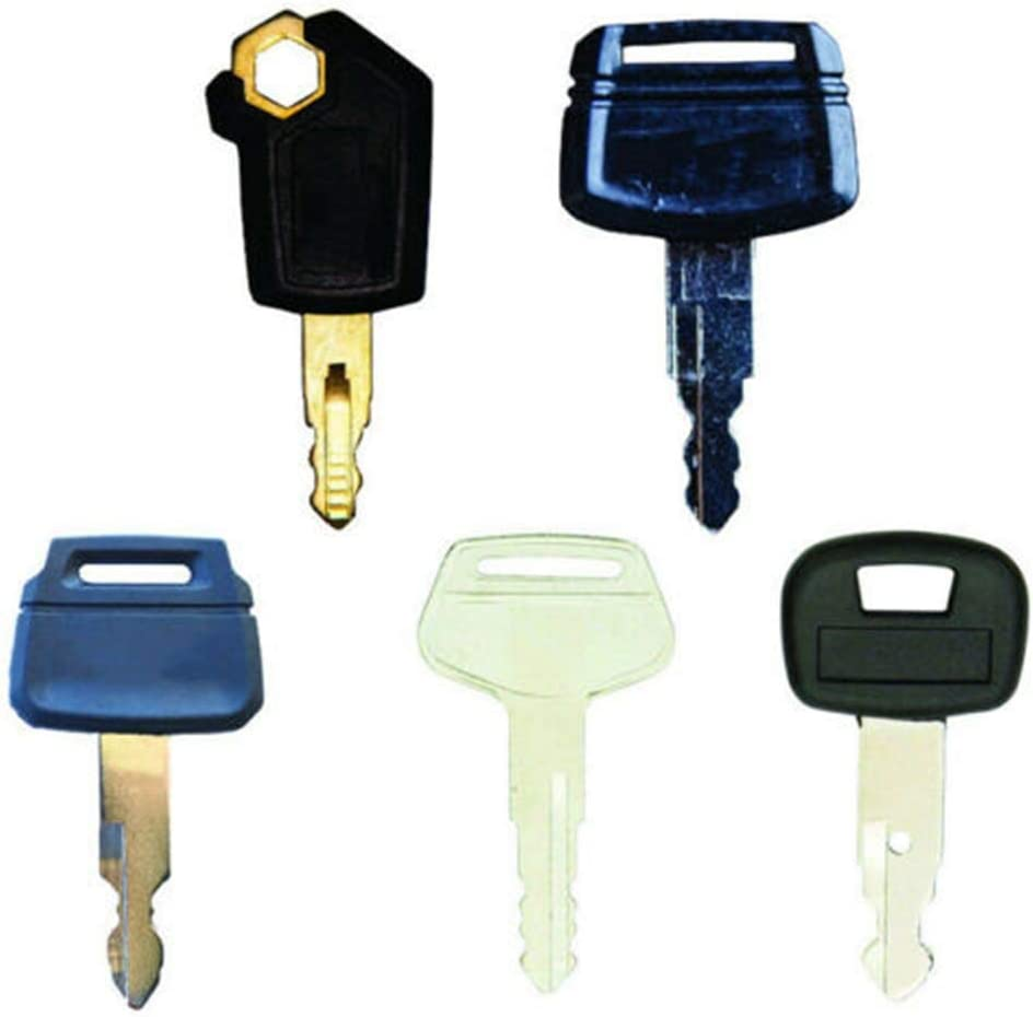 BAQI 5PCS Reemplazo de Llaves de Encendido Interruptores de Arranque para Caterpillar 5p8500, Hitachi h800, Kobelco k250, Komatsu 787, Kubota 459a Excavadora Equipo Pesado