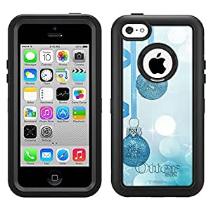 Otterbox Apple iPhone 6 plus 5.5 Defender Case Christmas Glitter Blue Ornaments