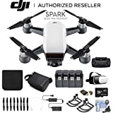 DJI Spark Quadcopter Fly More Combo (Alpine White) CP.PT.000731 + 4 Battery Bundle
