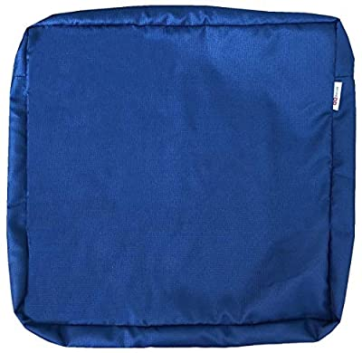 """QQbed Outdoor Multi Pack Patio Chair Washable Cushion Pillow Seat Covers 18""""X16""""X4"""" 20""""X18""""X4"""" 24""""X22""""X4"""" Size - Replacement Covers Only"""