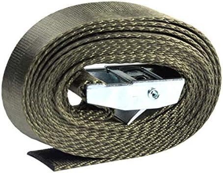 ALEOHALTER Pack Strap Tie Down Nylon Strap Verstelbare Sjorbanden met Metalen Gesp voor Bagage Verpakking en Tas Verpakking Army Green 2M 1st