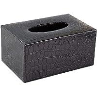 ENXING Caja de pañuelos Portarrollos Rectangular de Cuero Caja de pañuelos Porta servilletas en Relieve Europea