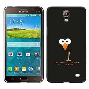 LECELL--Funda protectora / Cubierta / Piel For Samsung Galaxy Mega 2 -- Divertida linda del cuervo del cuervo --