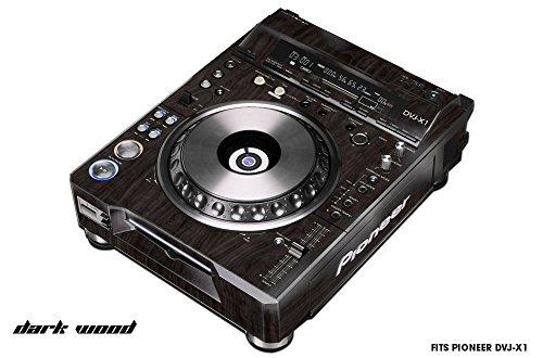Skin Decal Wrap for PIONEER DVJX1 DJ Mixer CD Pro Audio DVJ X1 Part - DARK WOOD (Mixer Skins)