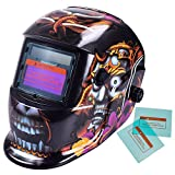iMeshbean Pro Cool Solar Auto-Darkening Welding & Grinding Helmet + 2 pcs Extra Lens Covers ANSI Certified Model#1061 USA