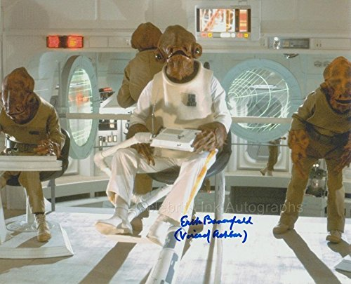 ERIK BAUERSFELD as the voice of Admiral Ackbar - Star Wars: Return Of The Jedi GENUINE AUTOGRAPH