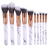 Makeup Brush Set, 2 Types New Foundation Eyebrow Eye Shadow Blush Concealer Blending Powder Cosmetic Tool Kit(10pcs)