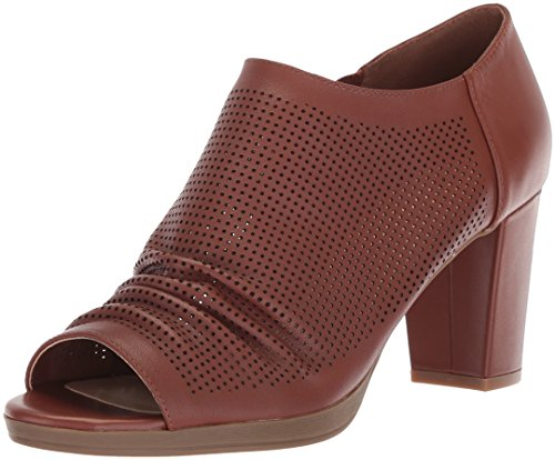 Bella Vita Womens Liza Platform Dark Tan Leather