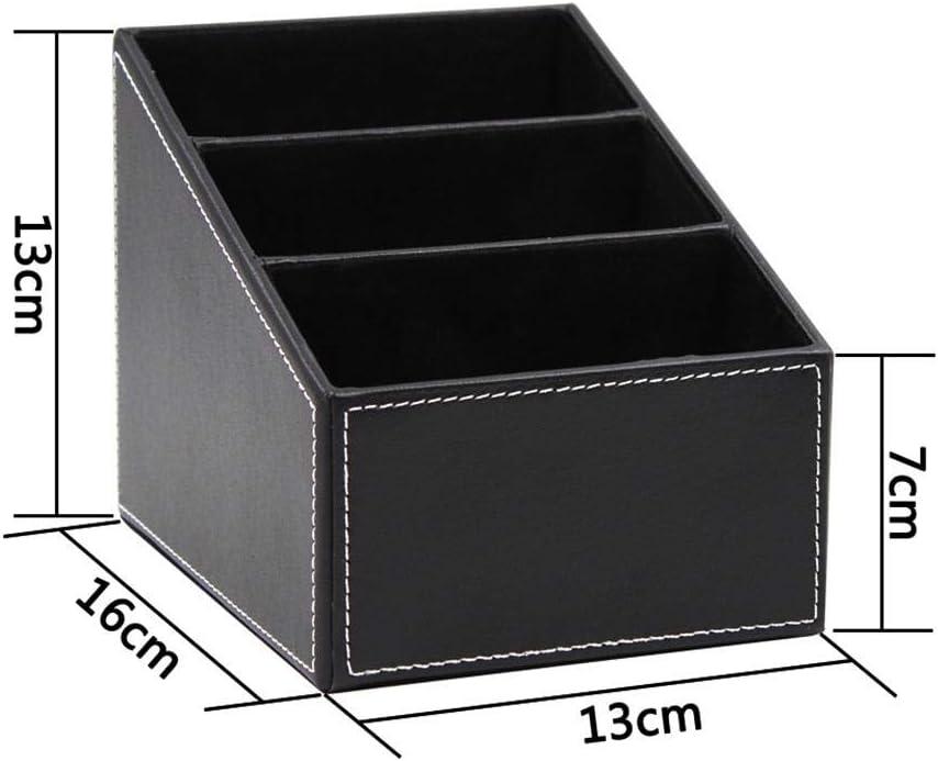 Nicemeet Desk Organizer Home Desk Storage Box for Home Dresser Office Cell Phone Remote Control PU Leather Holder