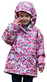 Jan & Jul Kids Water-proof Fleece-lined Rain Coat Jacket Hooded (Tulip, 2T)